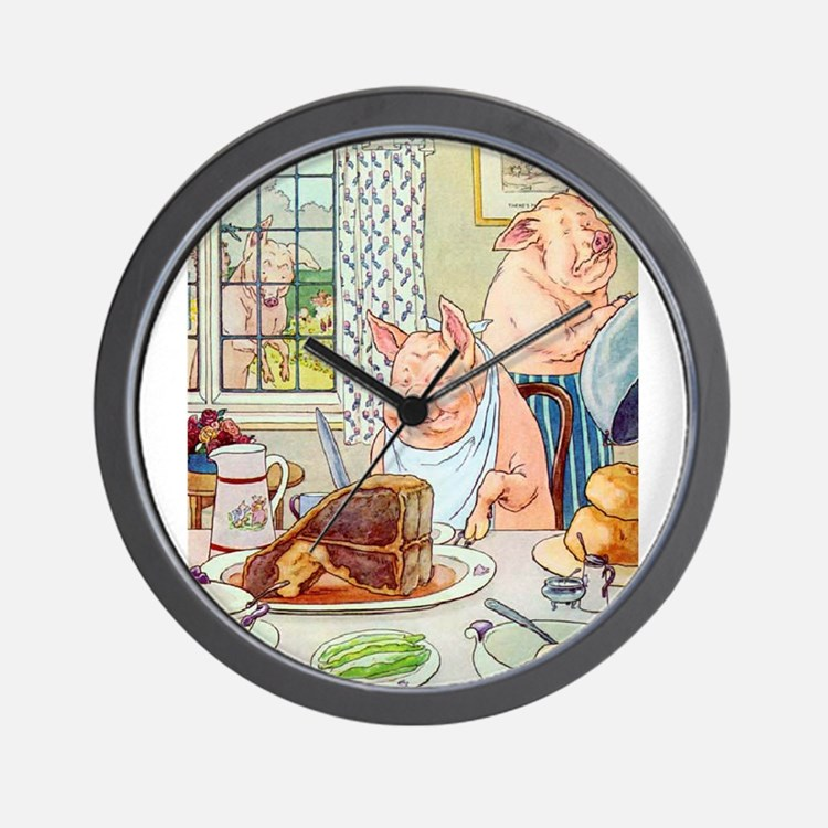 Roast Beef Piggy Wall Clock