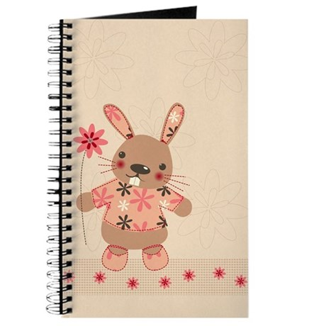 Cute Rabbit & Flowers Journal