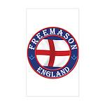 English Free Masons Sticker (Rectangle)