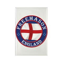 English Free Masons Rectangle Magnet (100 pack)