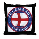 English Free Masons Throw Pillow