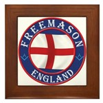 English Free Masons Framed Tile