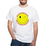 Sinister Smiley Face White T-Shirt