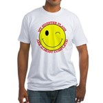 Sinister Smiley Face Fitted T-Shirt
