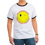 Sinister Smiley Face Ringer T