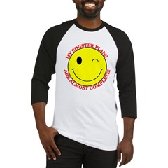 Sinister Smiley Face Baseball Jersey
