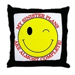 Sinister Smiley Face Throw Pillow