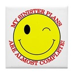 Sinister Smiley Face Tile Coaster