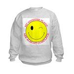 Sinister Smiley Face Kids Sweatshirt