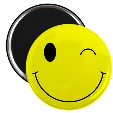 Sinister Smiley Face Magnet