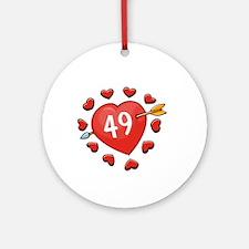 49th Valentine Ornament (Round)