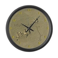 Tripawds Large Wall Clock