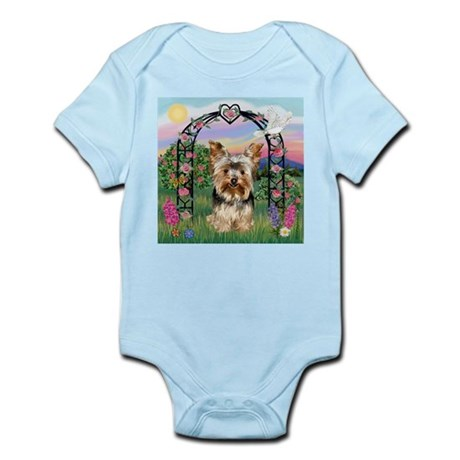 Rose Arbor & Yorkie Infant Bodysuit