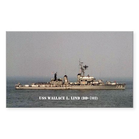 USS WALLACE L. LIND Sticker (Rectangle)