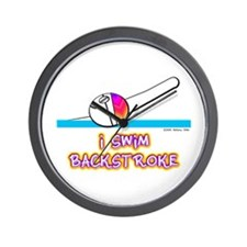 I Swim Backstroke Wall Clock