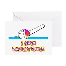 I Swim Backstroke Greeting Cards (Pk of 10)