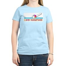 I Swim Backstroke Women's Pink T-Shirt