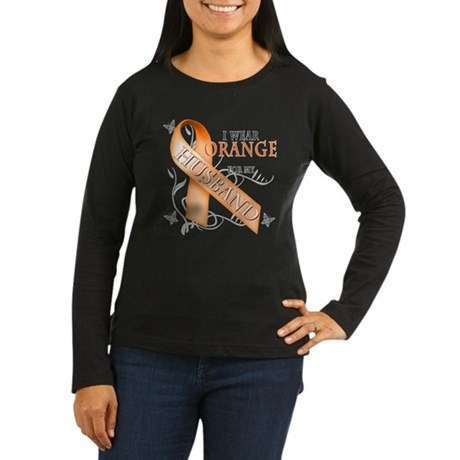 I Wear Orange for my Husband Women's Long Sleeve D