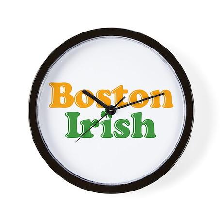 Boston Irish Wall Clock