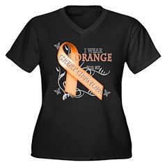I Wear Orange for my Great Grandpa Women's Plus Si
