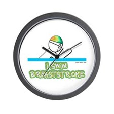 I Swim Breaststroke Wall Clock