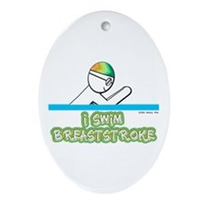 I Swim Breaststroke Oval Ornament