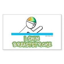 I Swim Breaststroke Rectangle Decal
