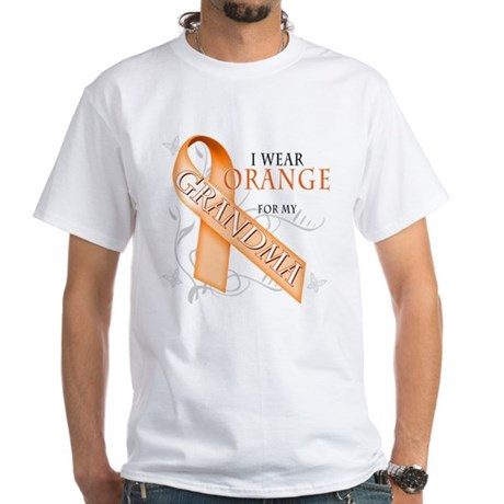 I Wear Orange for my Grandma White T-Shirt