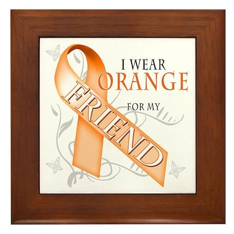I Wear Orange for my Friend Framed Tile