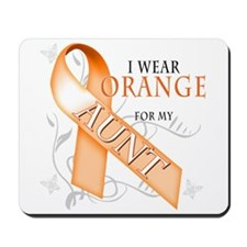 I Wear Orange for my Aunt Mousepad