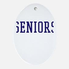 Seniors High School Ornament (Oval)