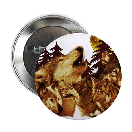 """Wolves 2.25"""" Button (10 pack)"""