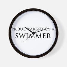 Proud Parent: Swimmer Wall Clock