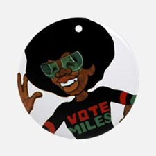 Vote Miles Ornament (Round)