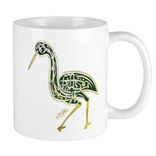 calligraphy bird 02 Mugs