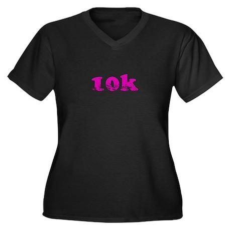 10k Women's Plus Size V-Neck Dark T-Shirt