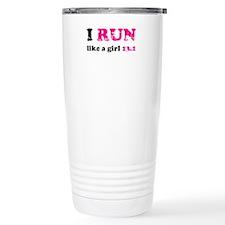 I run like a girl 13.1 Travel Mug