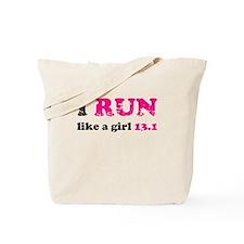 I run like a girl 13.1 Tote Bag