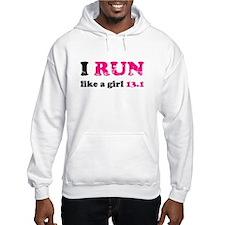 I run like a girl 13.1 Hoodie