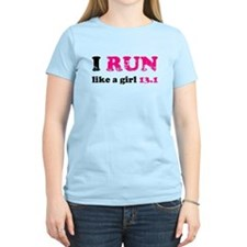 I run like a girl 13.1 T-Shirt