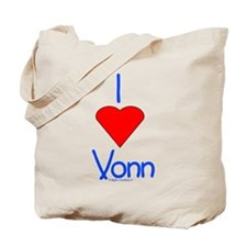 Heart Vonn Tote Bag