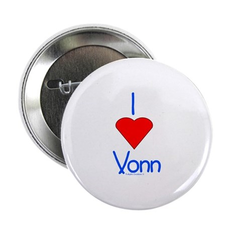 "Heart Vonn 2.25"" Button"