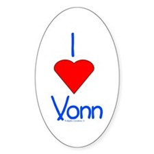 Heart Vonn Decal