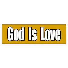 God is Love Bumper Bumper Sticker