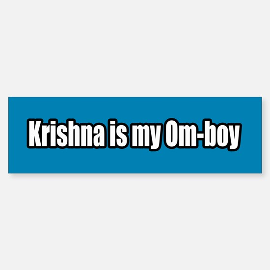 Krishna is my Om Boy Bumper Bumper Bumper Sticker