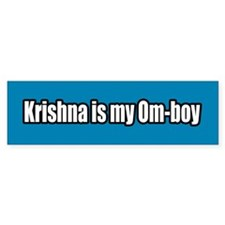 Krishna is my Om Boy Bumper Bumper Sticker