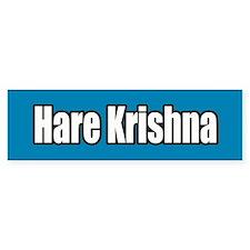 Hare Krishna Blue Bumper Bumper Sticker