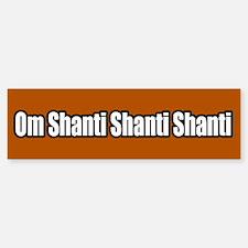 Om Shanti Shanti Shanti Peace Bumper Bumper Bumper Sticker