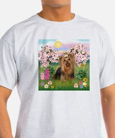 Blossoms/Yorkie #7 T-Shirt