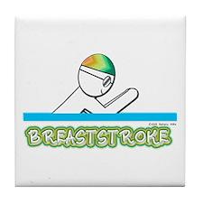 Breaststroke Tile Coaster